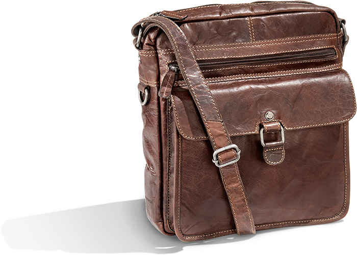 Vegetable Tanned Buffalo Leather Travel Bag