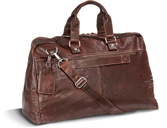 Vegetable Tanned Buffalo Leather Valet Duffel