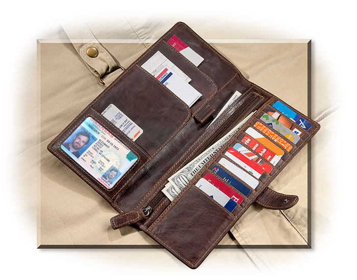Jack George's Men's Leather Travel Wallet for the seasoned traveler