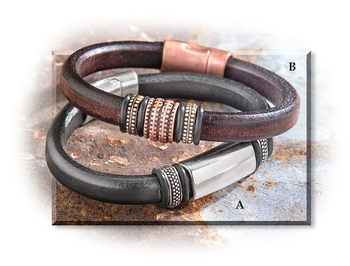 Magnetic Closure Leather Bracelets-Renegade