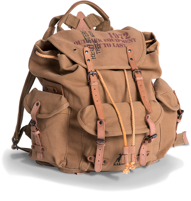 WWII Inspired Canvas Backpack
