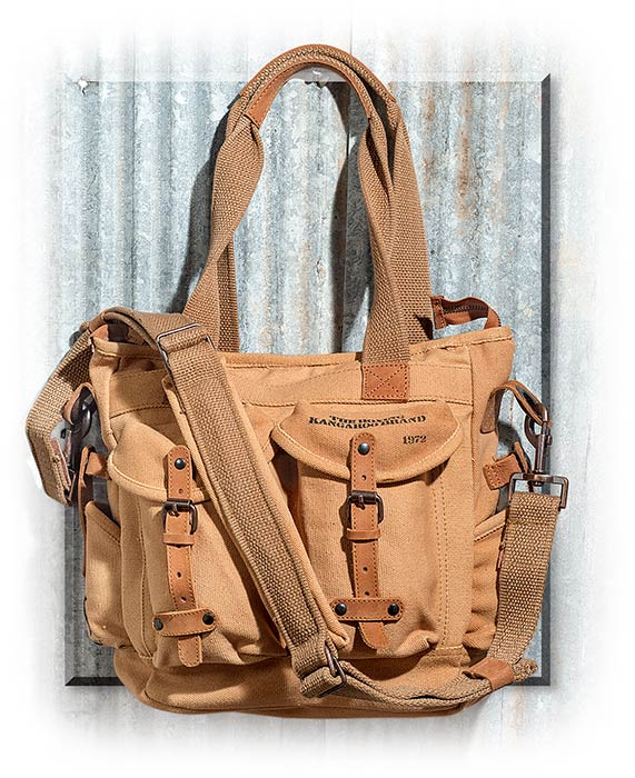 Canvas and Leather Utility Bag