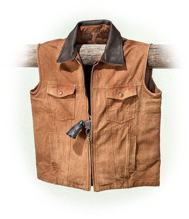 Rugged Cotton Canvas Conceal Carry Vest
