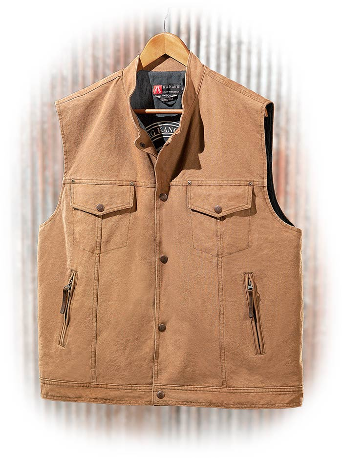 Durable Canvas Conceal Carry Vest