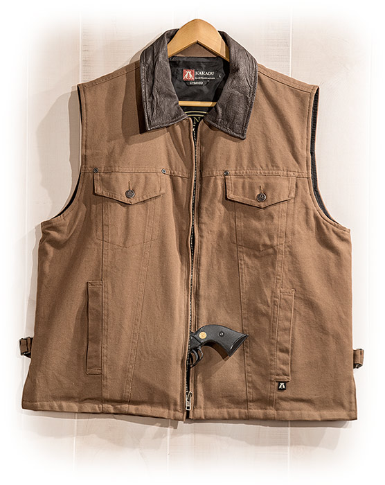 Heavy Duty Cotton Canvas Concealed Carry Vest