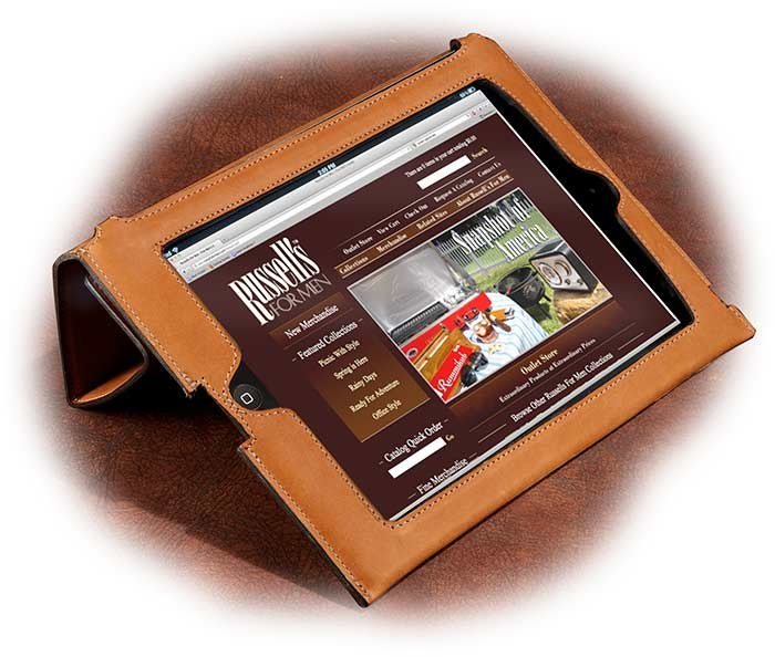Full Grain American Steerhide iPad Case