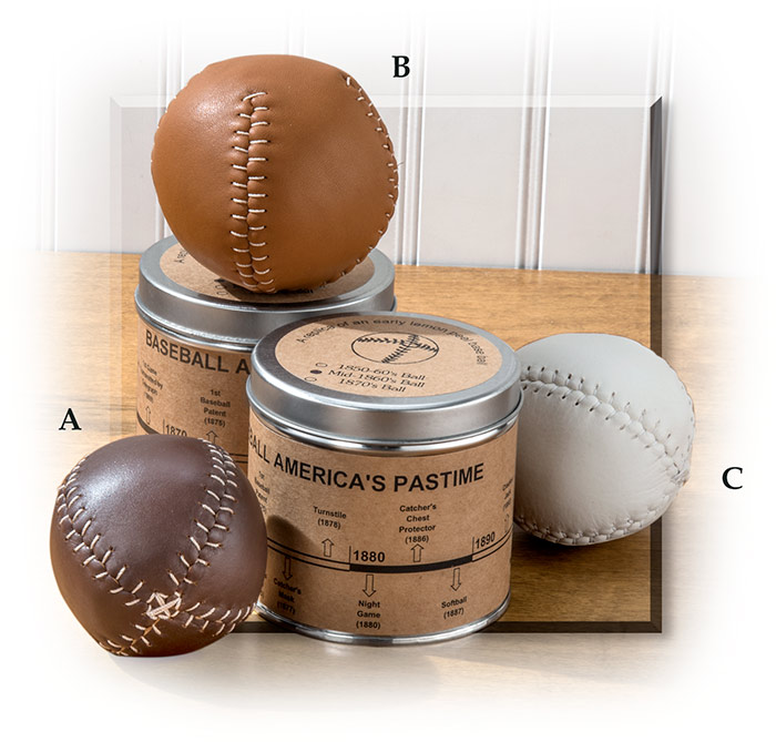 19th Century Baseballs 1850s ball