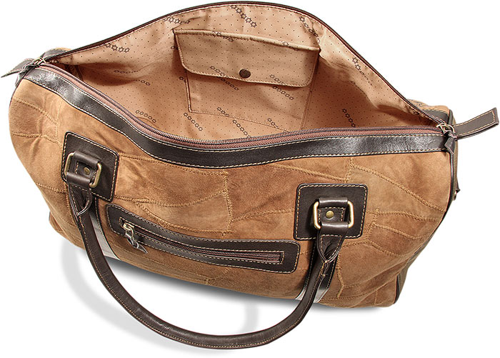 Upcycled Leather Duffel