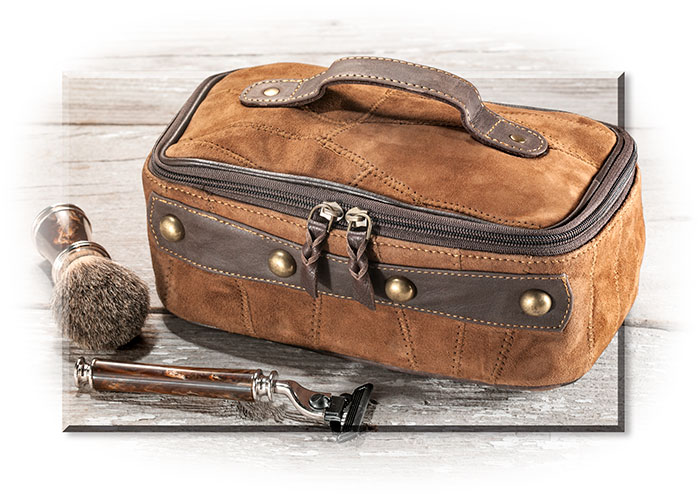 Upcycled Leather Dopp Kit Russell S For Men