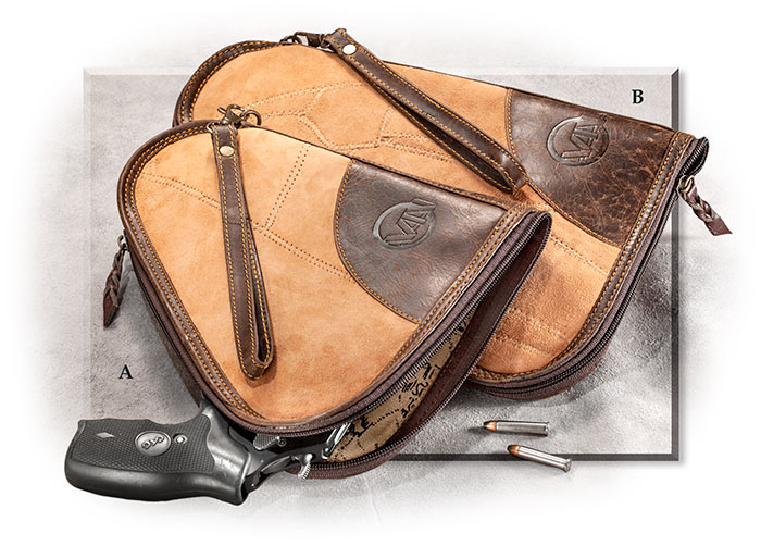 Upcycled Leather Pistol Cases
