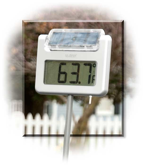 Solar Powered Garden Thermometer