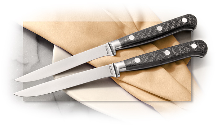MASERIN - CARBON FIBER HANDLE STEAK KNIFE - SINGLE KNIFE ONLY -