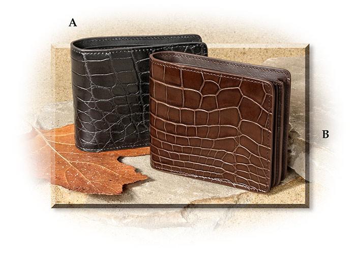 100/% Genuine Crocodile Wallet Handmade Crocodile skin Leather wallets for man AG
