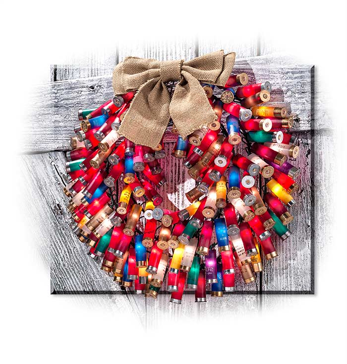 12-Gauge Shotgun Shell Wreath