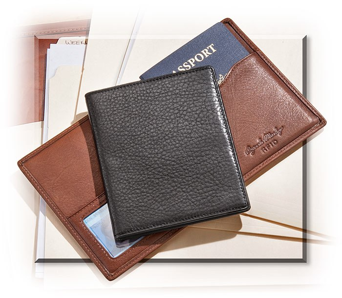 RFID Protective Passport Wallet Brandy