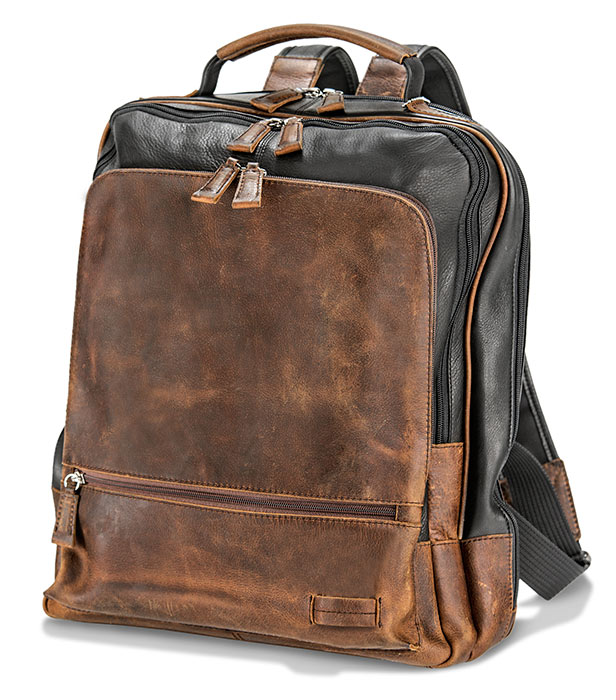 Slim Profile Cowhide Backpack