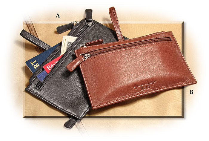 Travel Belt Leather Pouch