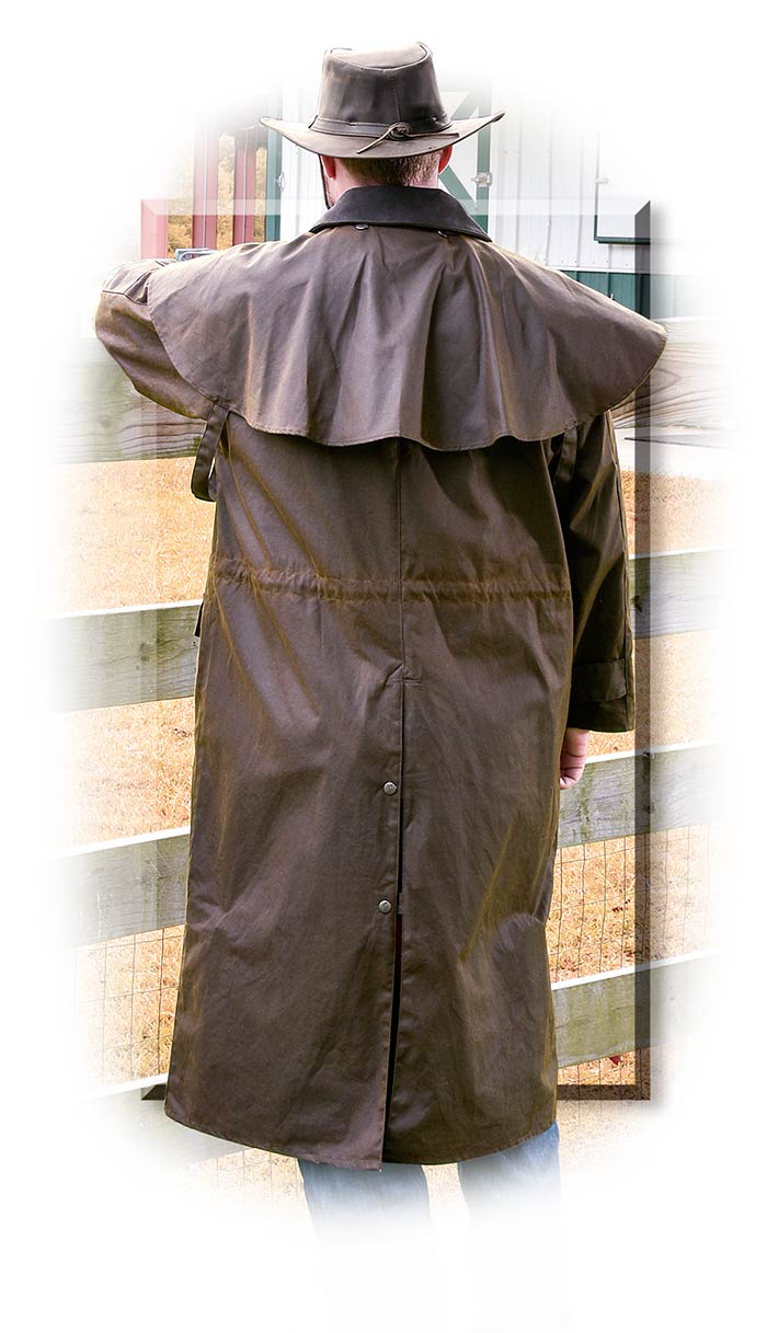 Rugged Conceal Carry Oilskin Duster Medium