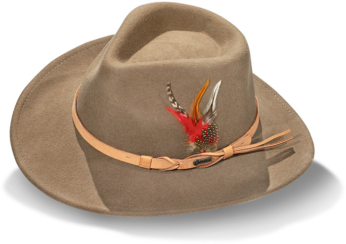 Australian Wool Hat, crushable fade resistant water repellant lightweight 100% Australian wool