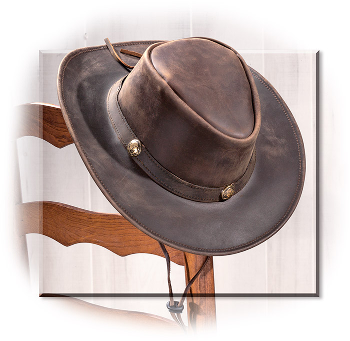 Cheyenne Leather Hat small