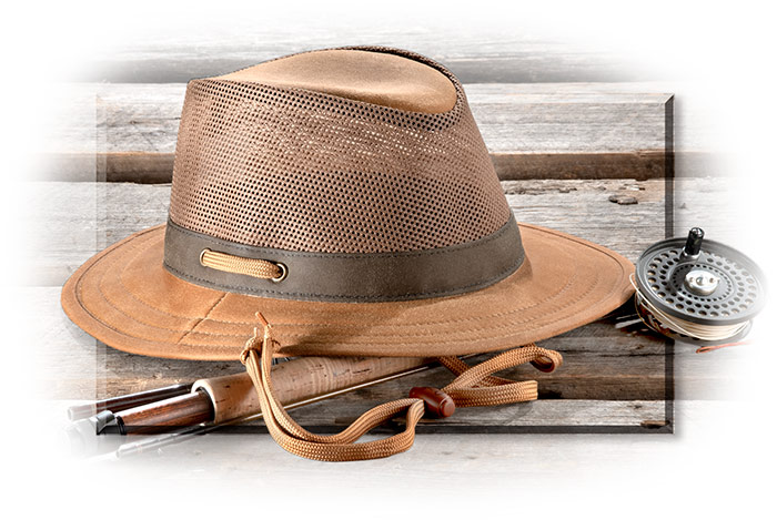 Cotton Oilskin Field Hat Tan small