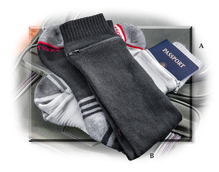Passport Security Socks White medium