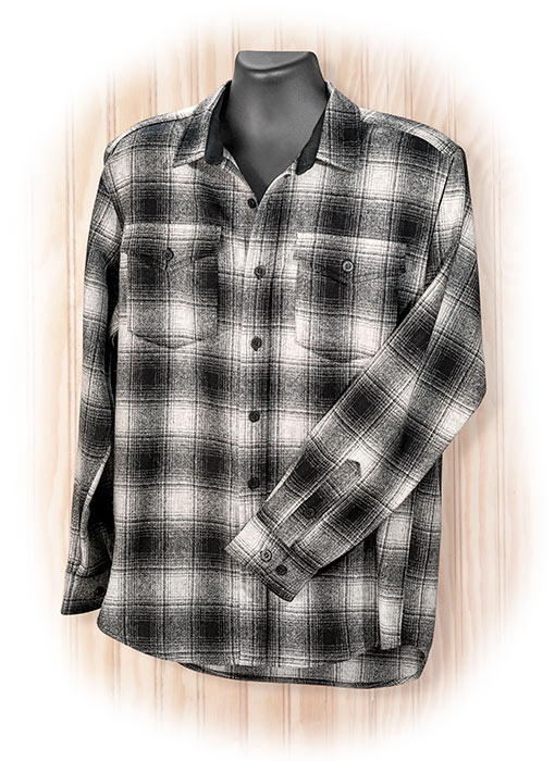 Pendleton Black & Gray Plaid Guide Shirt Medium