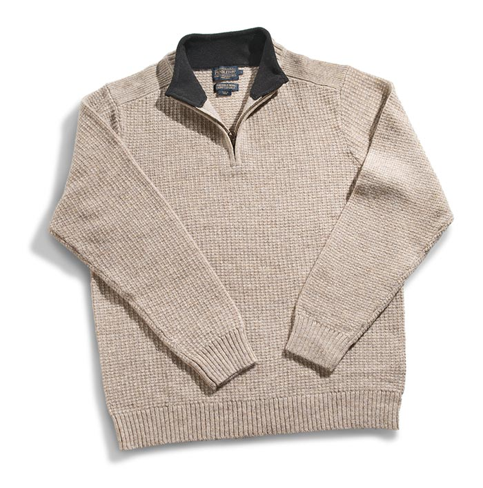 Pendleton Shetland Half-Zip Pullover Sweater Small