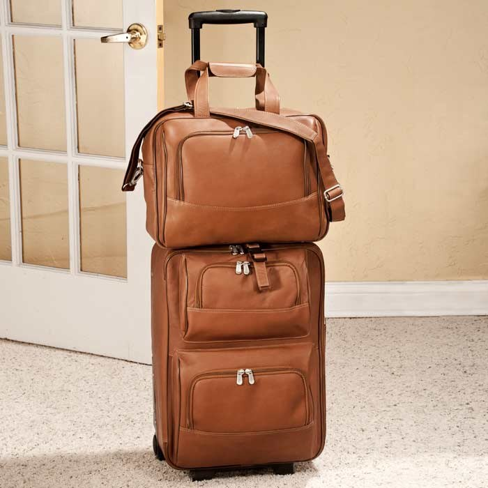 Full Grain Cowhide Leather Wheeled Traveler