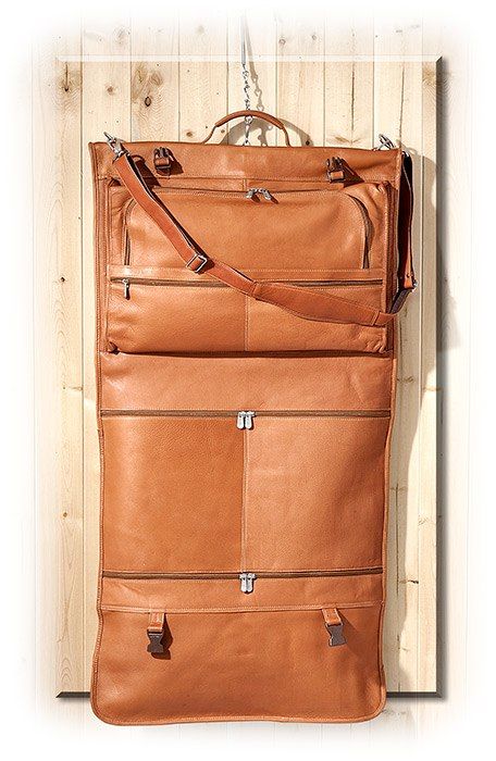 Tri-Fold Vaquetta Leather Garment Bag  3e33c5db0fc22