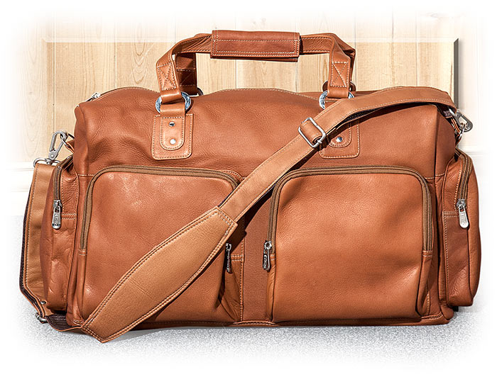 Multi Pocket Leather Duffel