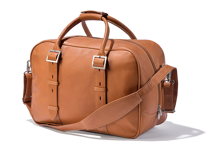 Buckle Strap Leather Duffel