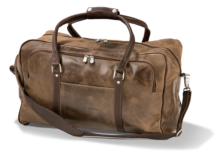 Rugged Vintage Leather Duffel
