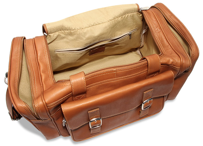 Saddle Brown Leather Duffel