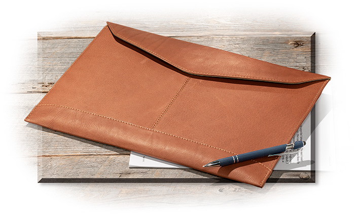 Leather Legal Envelope