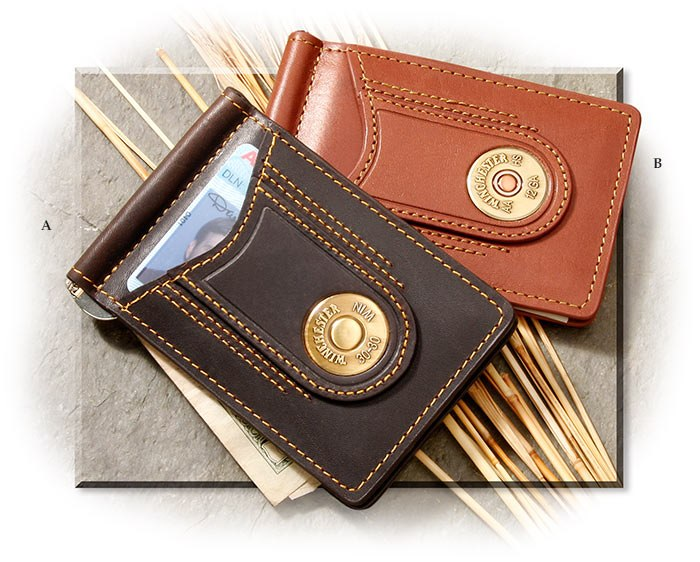 winchester leather money clips russell s for men shotgun shell clip art shotgun clipart