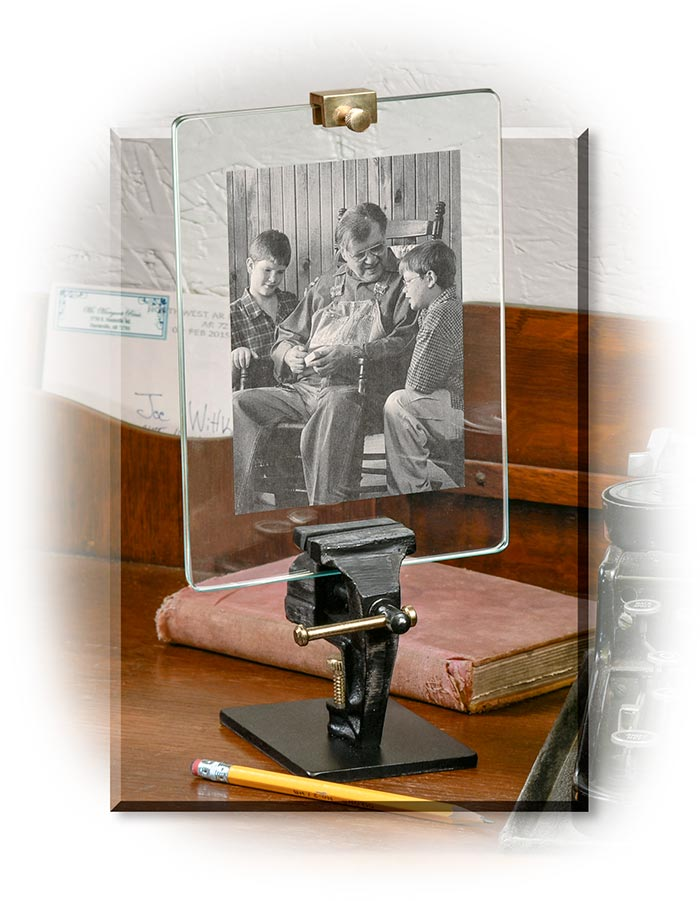 Cast Iron Vise Photo Frame