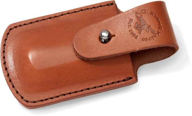 a g  russell leather pouch for the sowbelly trapper