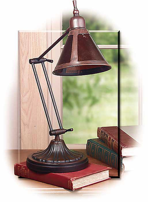 Arts & Crafts Style Mica Desk Lamp