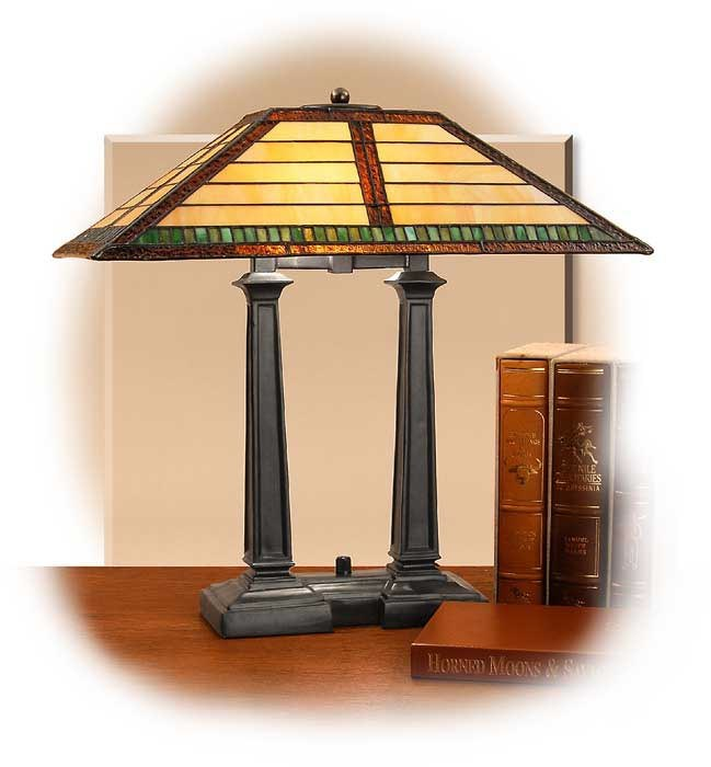 arts crafts tiffany style desk lamp russell 39 s for men. Black Bedroom Furniture Sets. Home Design Ideas