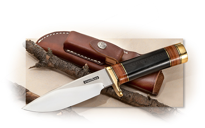 Randall Model 25 with Black Micarta and Leather
