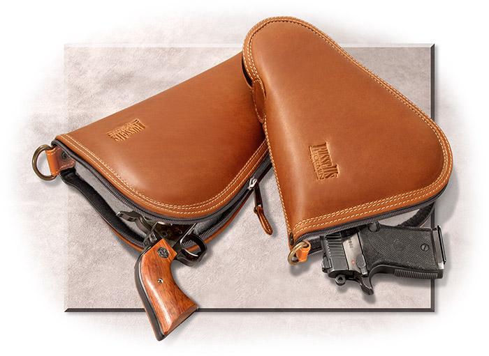 Leather pistol case