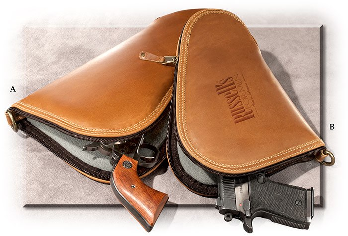 Genuine Buffalo Leather Pistol Case small