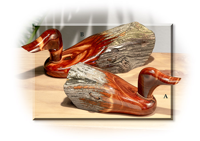 Hand Carved Cedar Fence Post Duck Russell S For Men
