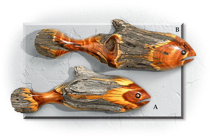 Rustic Cedar Fish Medium