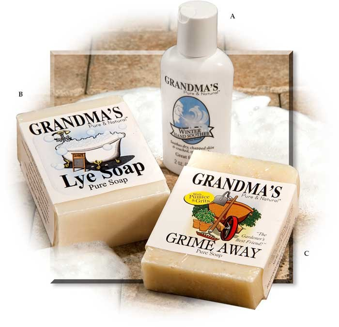 Grandma's Handmade Pure & Natural Winter Hand Soother Lotion, and Bar Soap