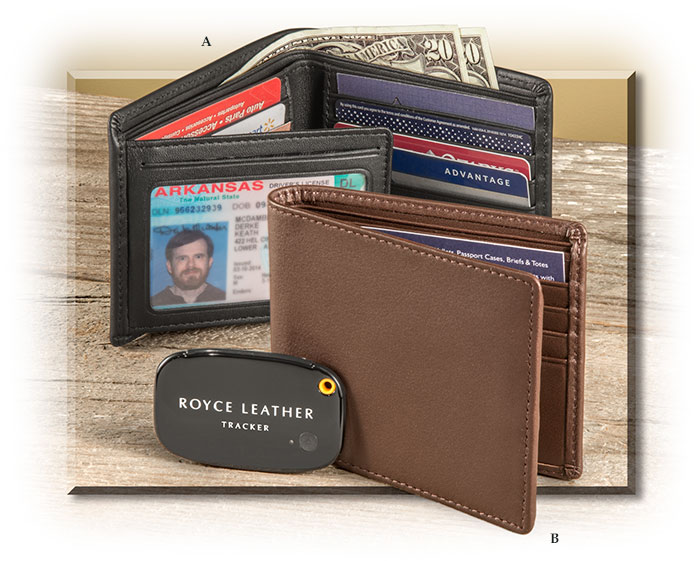 Trackable Leather RFID Bifold