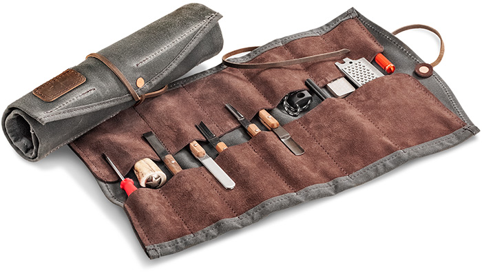 Leather & Canvas Tool Wrap