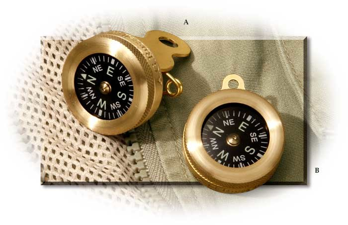 Liquid Filled Brass Case Compass