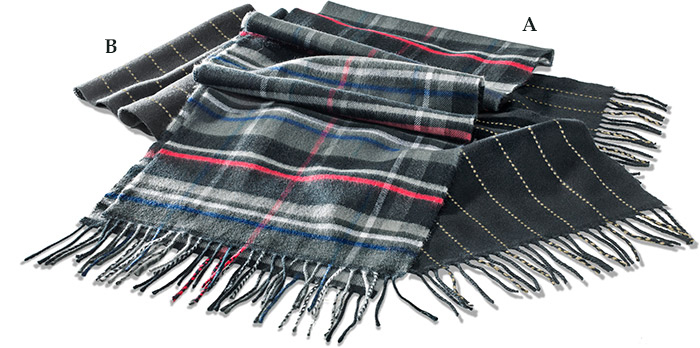 100% Cashmere Scarves Plaid